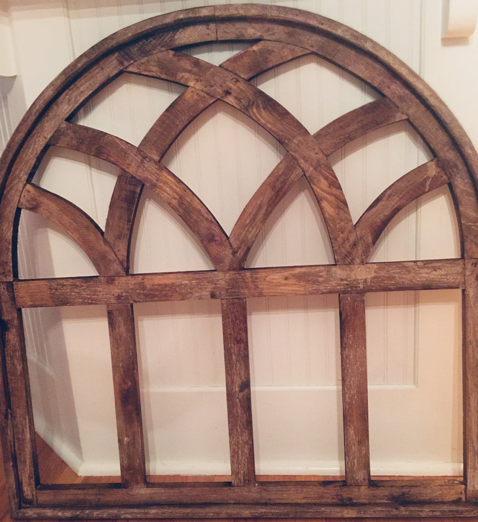 Large Wooden Arched Window