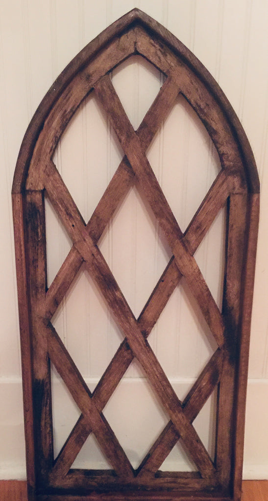 Wooden Lattice Arch Window