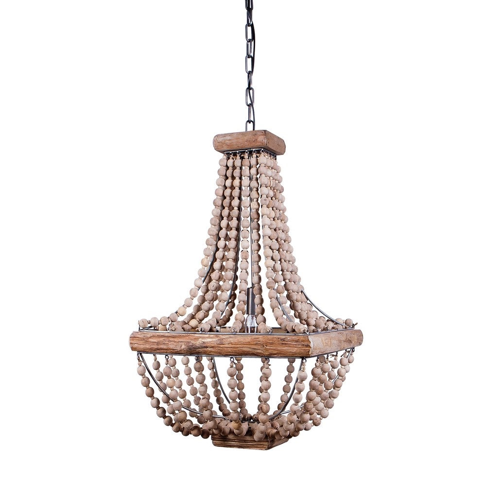 Beaded Wooden Chandelier (order in/store pickup only)