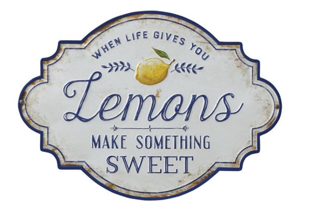 Metal Lemon Sign