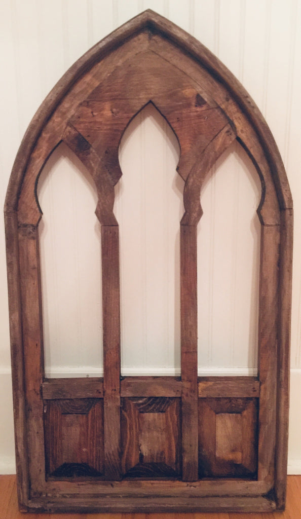 Wooden Gothic Cathedral Window