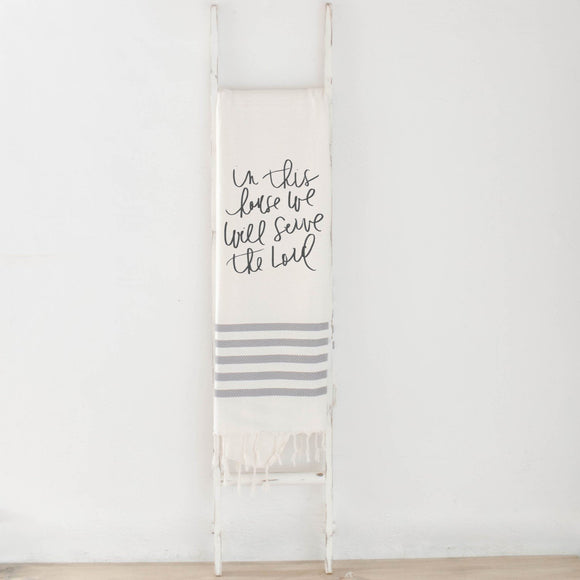 Serve the Lord Verse Blanket