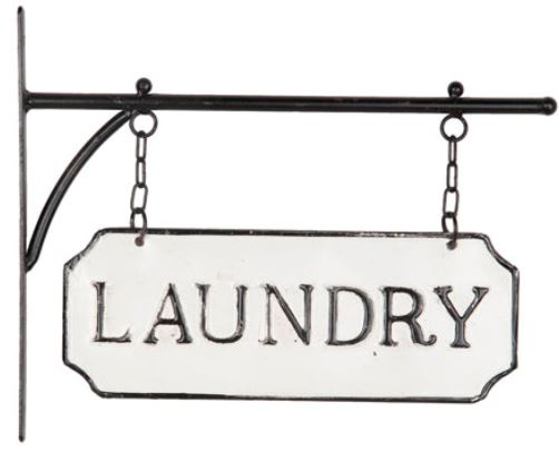"Metal ""Laundry""  Hanging Sign"