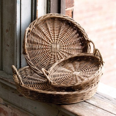 Round Willow Trays