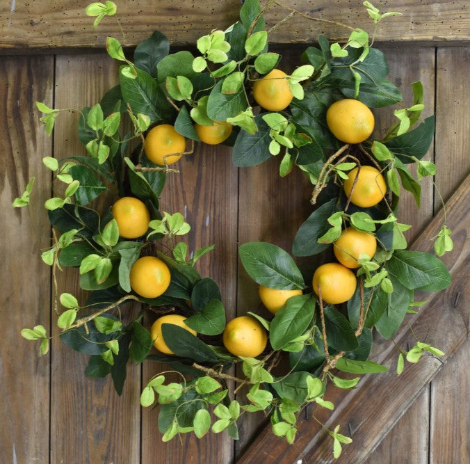 "22"" Lemon Wreath"