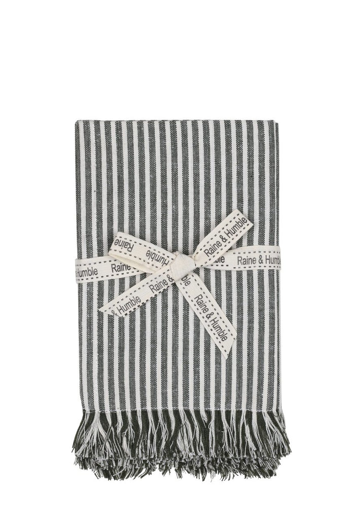 Abby Stripe Napkins in Olive (Set of 4)