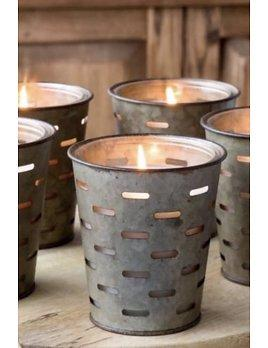 Spring Water Olive Bucket Soy Candle