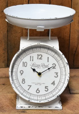 Antiqued White Kitchen Scale