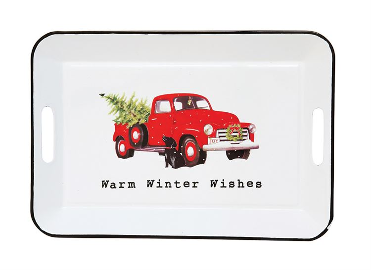 Warm Winter Wishes Truck Tray
