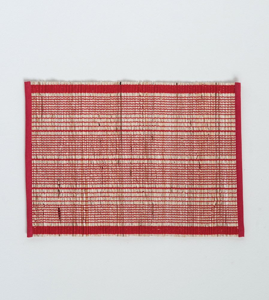 Banana Leaf & Cotton Red Striped Placemat