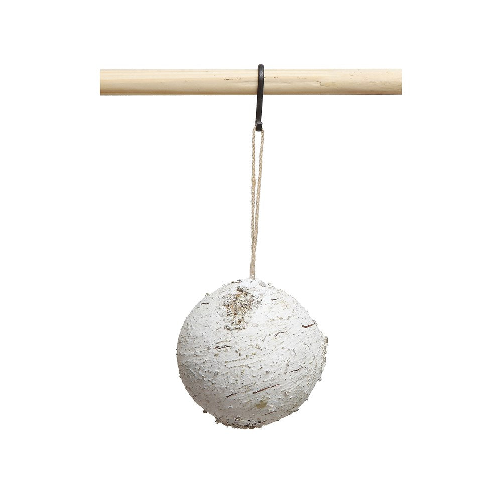 Round Birch Ball Ornament