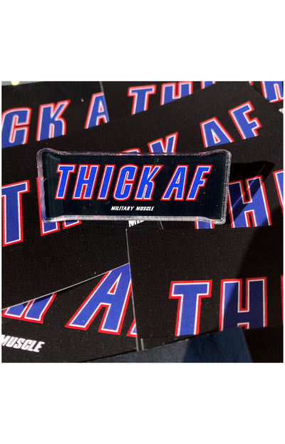 Thick AF Acrylic Pin - Military Muscle