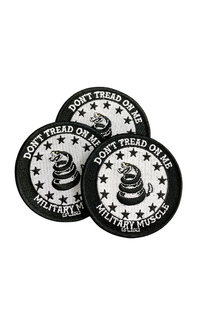 Don't Tread On Me Iron On Patch - Military Muscle