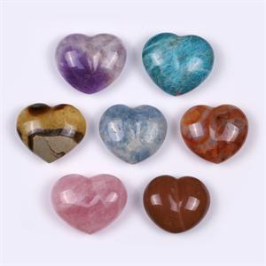 Chakra Polished Gemstone Heart Gift Set