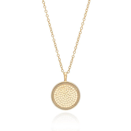 AB 0001P Large circle necklace in gold