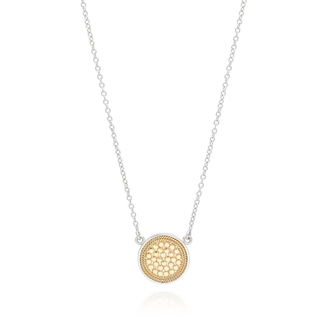 AB 0011N gold and silver small circle necklace