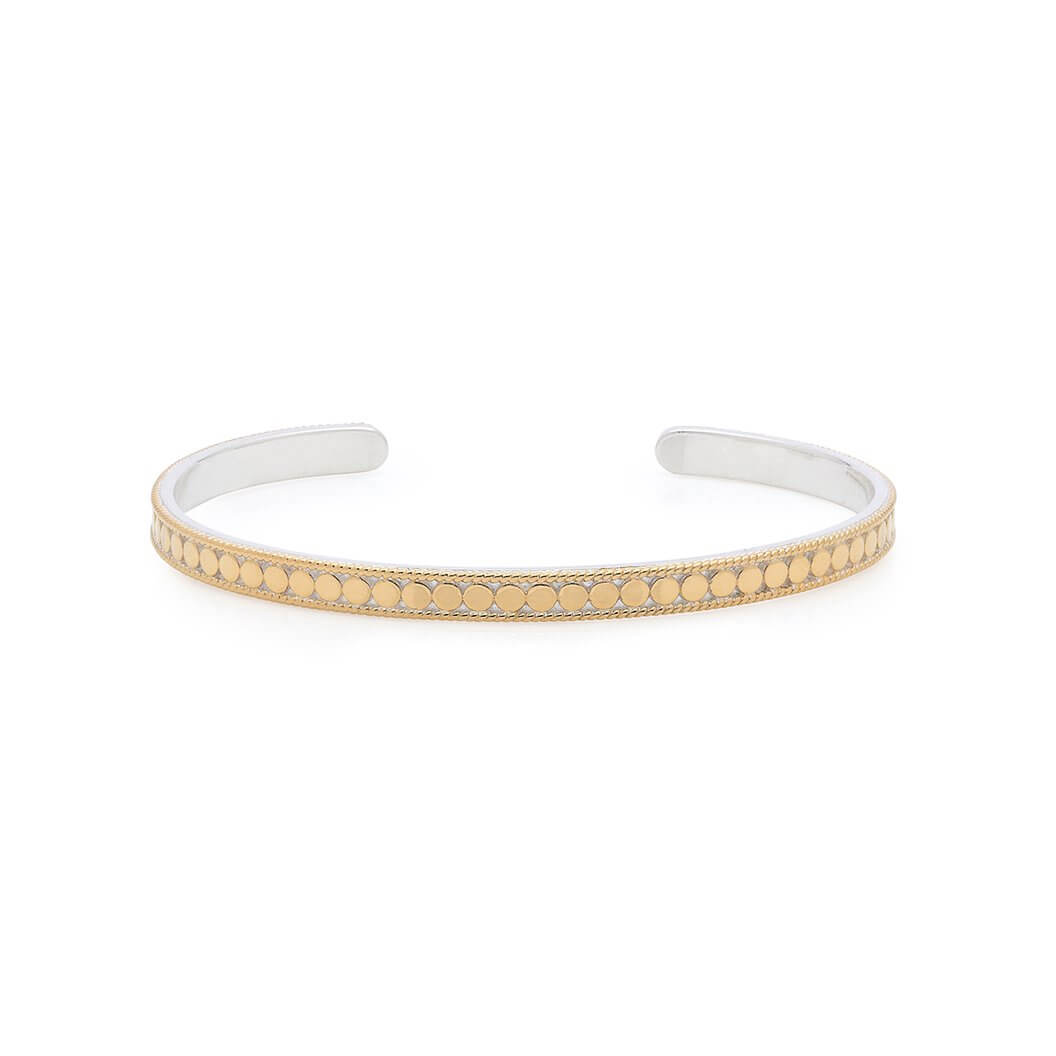 AB 0200C gold and silver slim bracelet