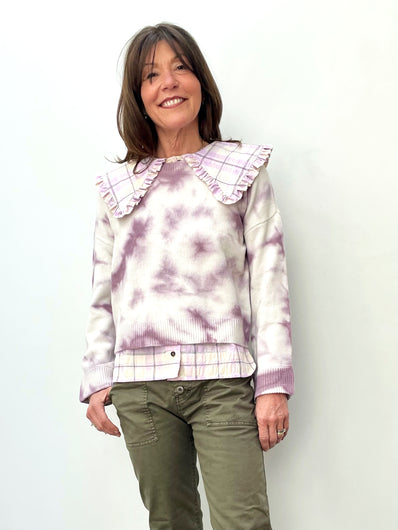 BERENICE  Andres Tie Dye Knit in Purple