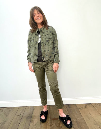 FIVE Bella Jacket with Stars in Khaki