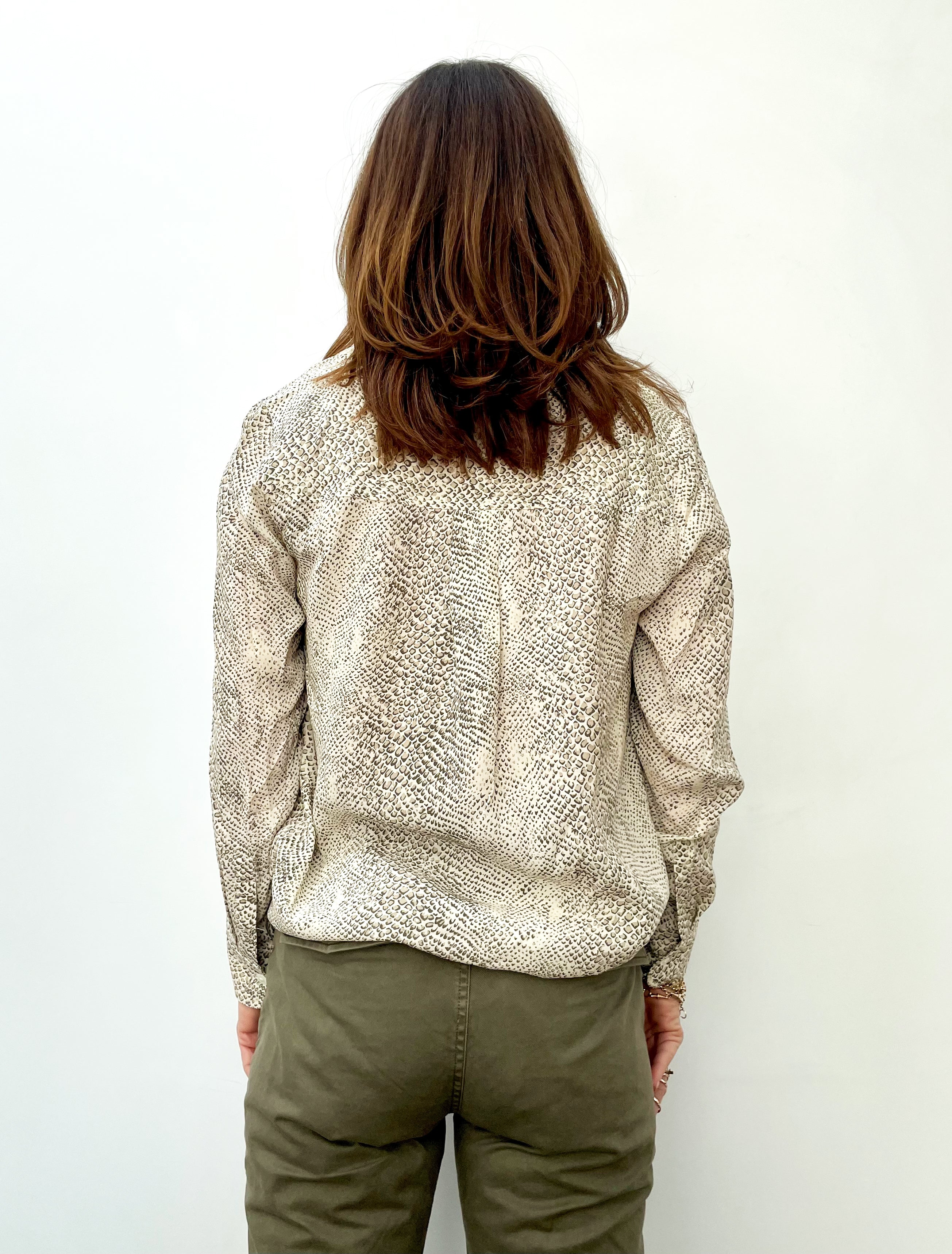 RAILS Hillary Top in Cream Snakeskin