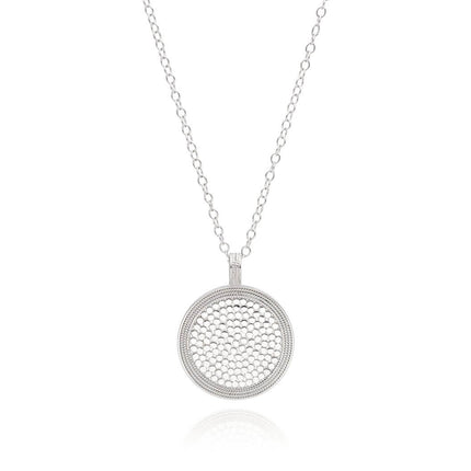 AB 1899N gold and silver large circle necklace