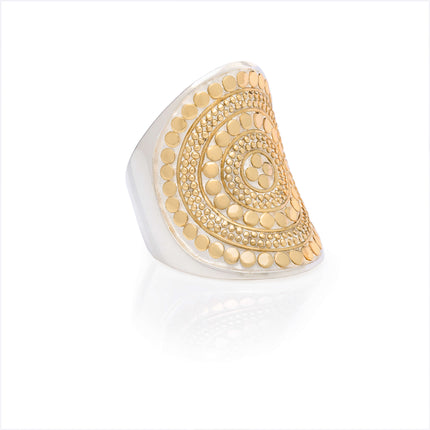 AB 2700R gold and silver large oval ring