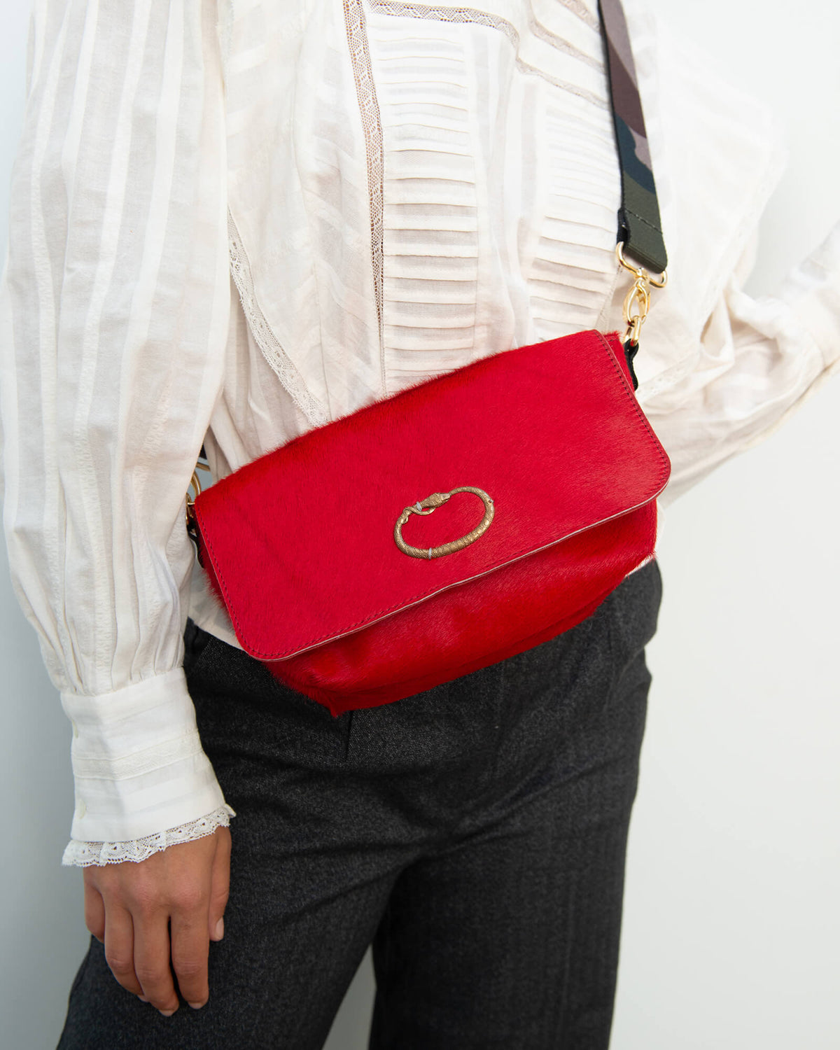 SLP Mai Tai bag in red and gold