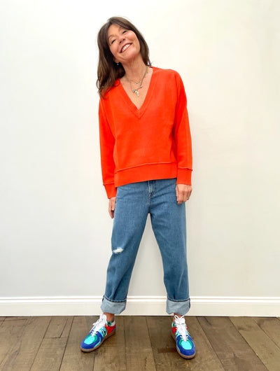 EA Zoetry Boxy Knit in Spicy Orange