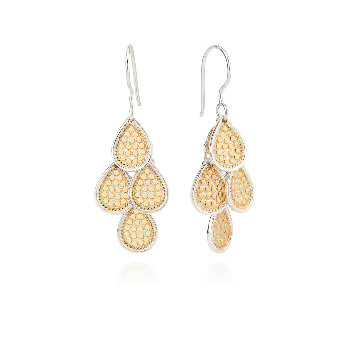 AB 0024E gold tear drops earrings