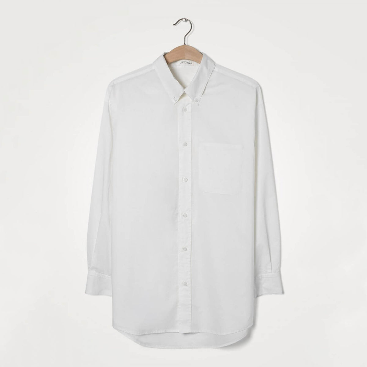 AV KRIM105 Oversized shirt in white