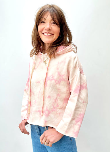BERENICE Devy Sweat in Coral Tie Dye