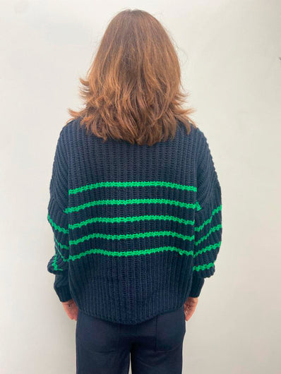 M Tupper Striped Knit in Indigo