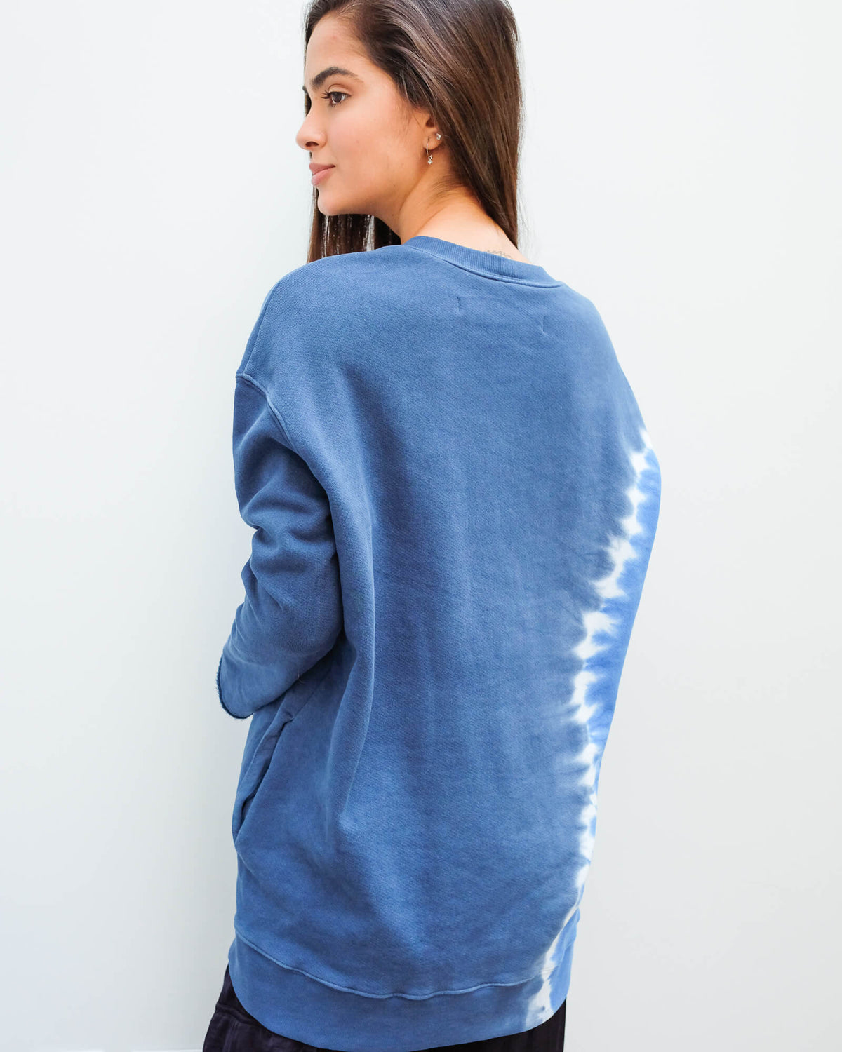 RA 4022 Oversized tie dye sweatshirt in sky