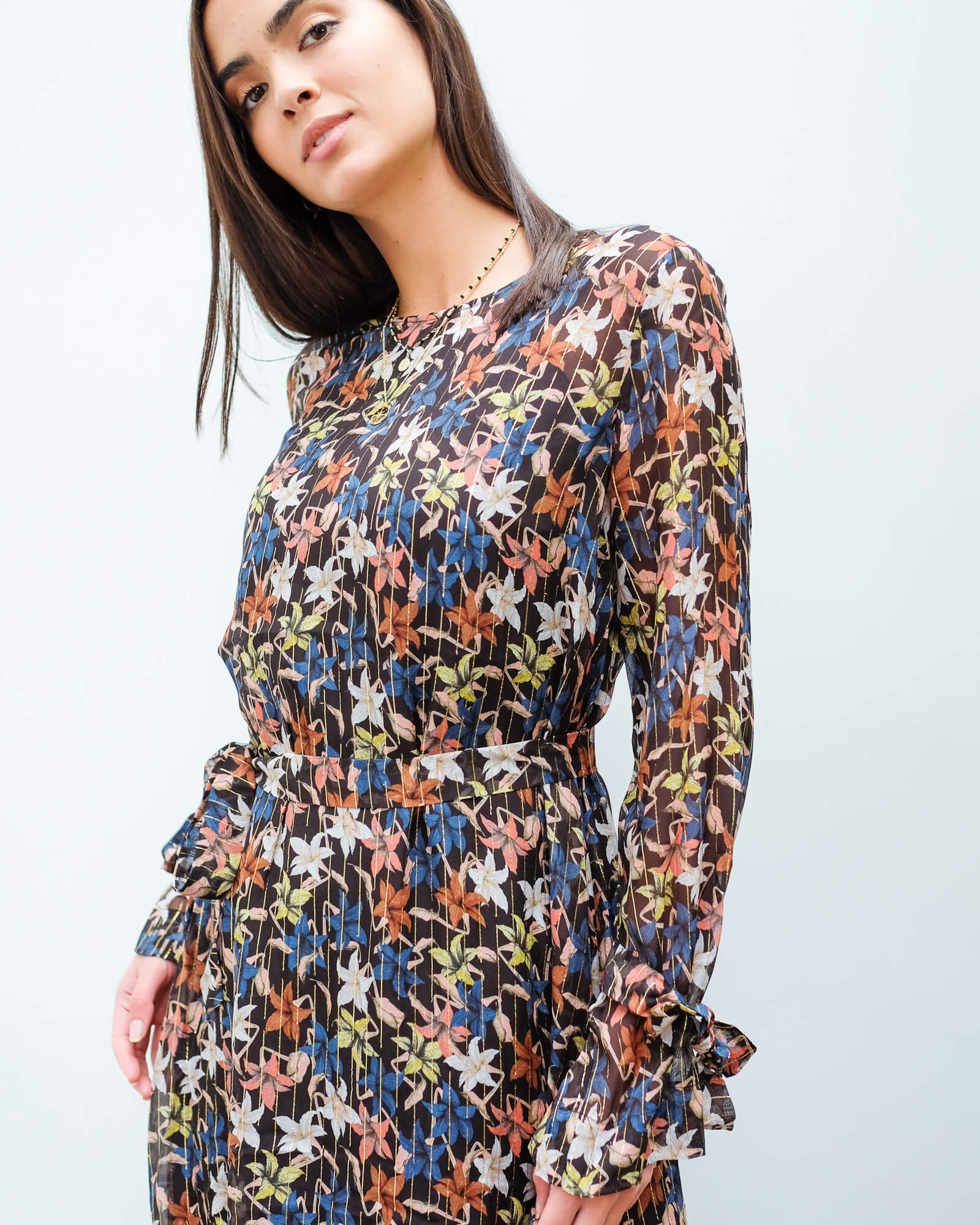 M Know floral dress in black