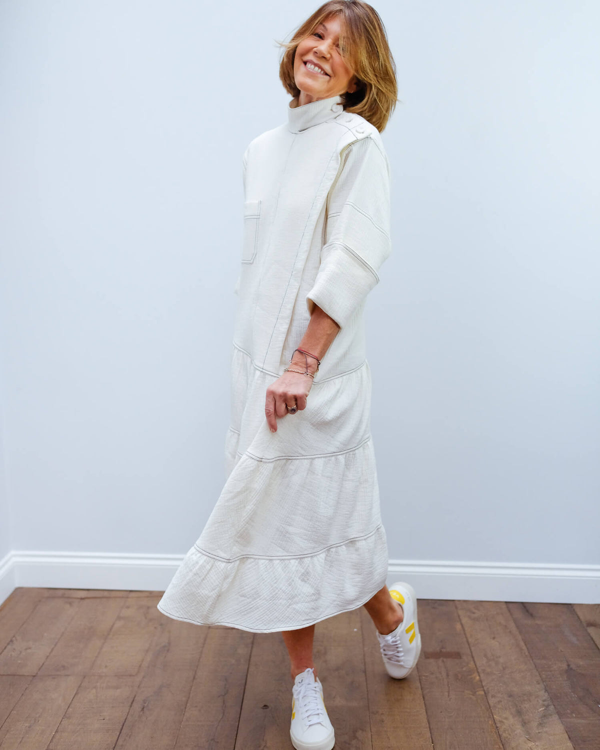 BMB Cacalia dress in soft white