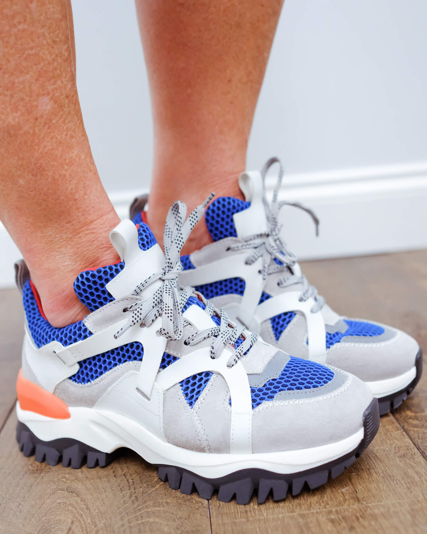 SLF Amy trail trainer in baleine blue