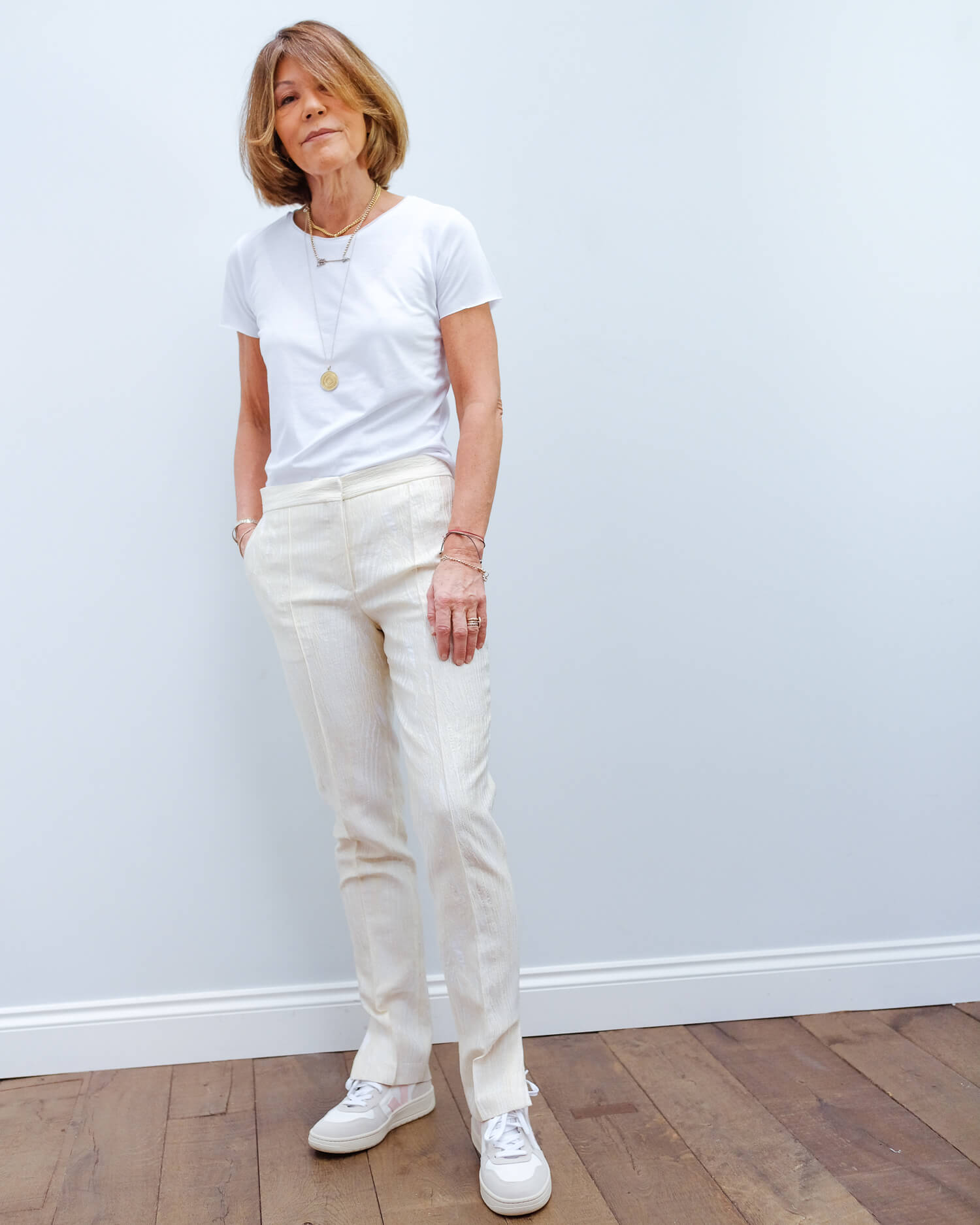 BMB Lingaard trousers in egg white