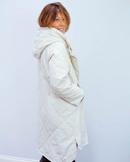 MM Zelinda coat in ivory