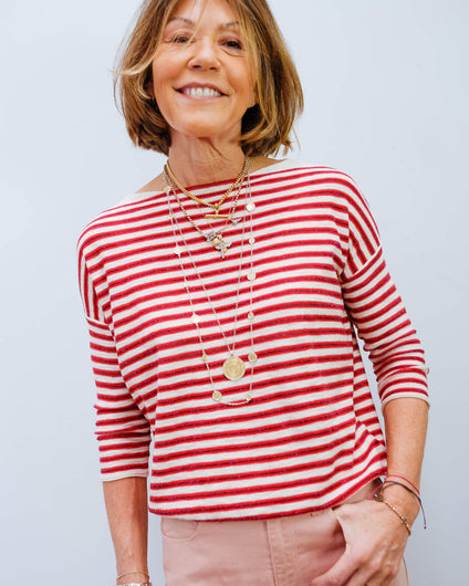BR Ghymo stripe knit in red