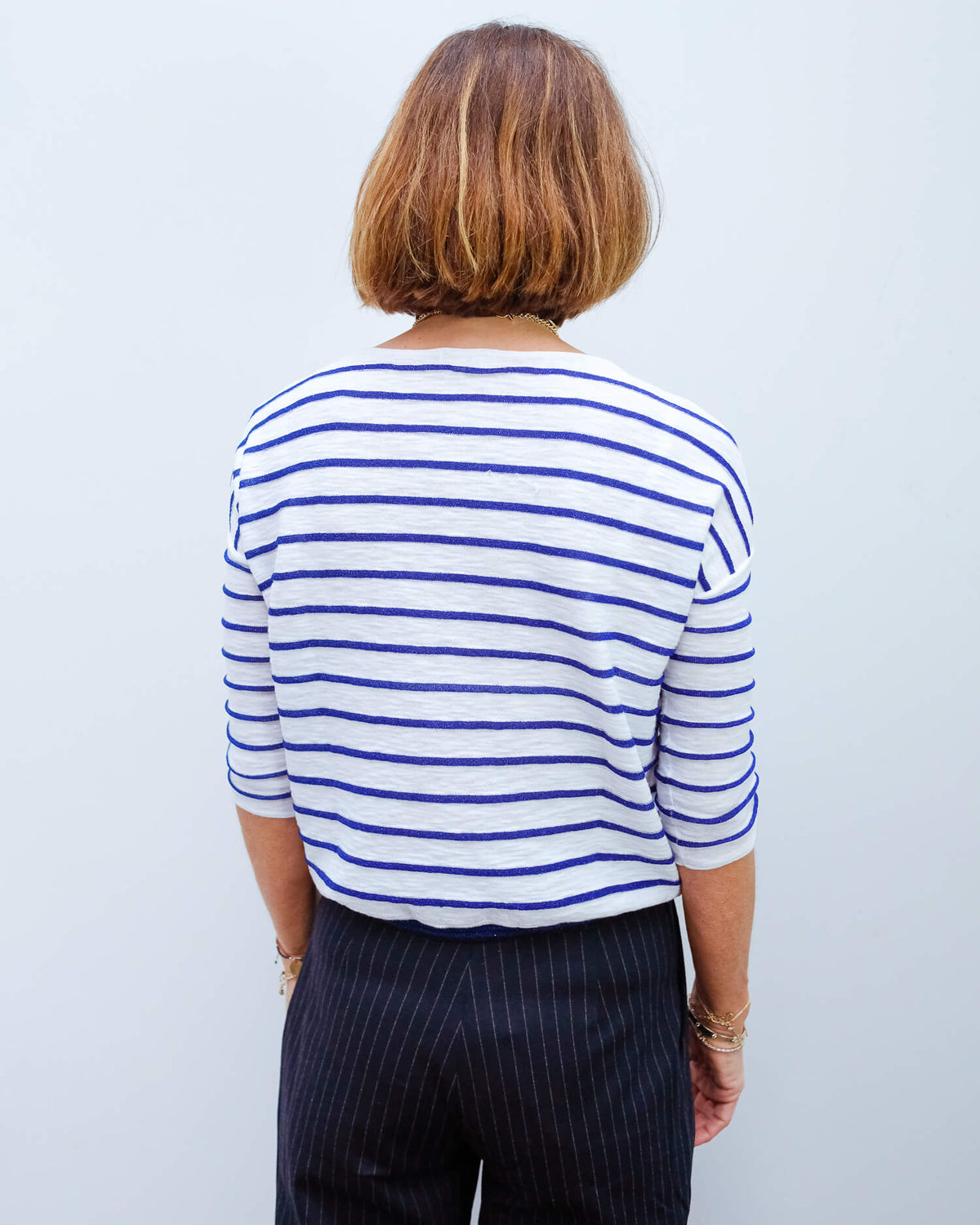 BR Ghymo stripe knit in blue