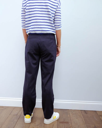MM Teulada trousers in blue, grey