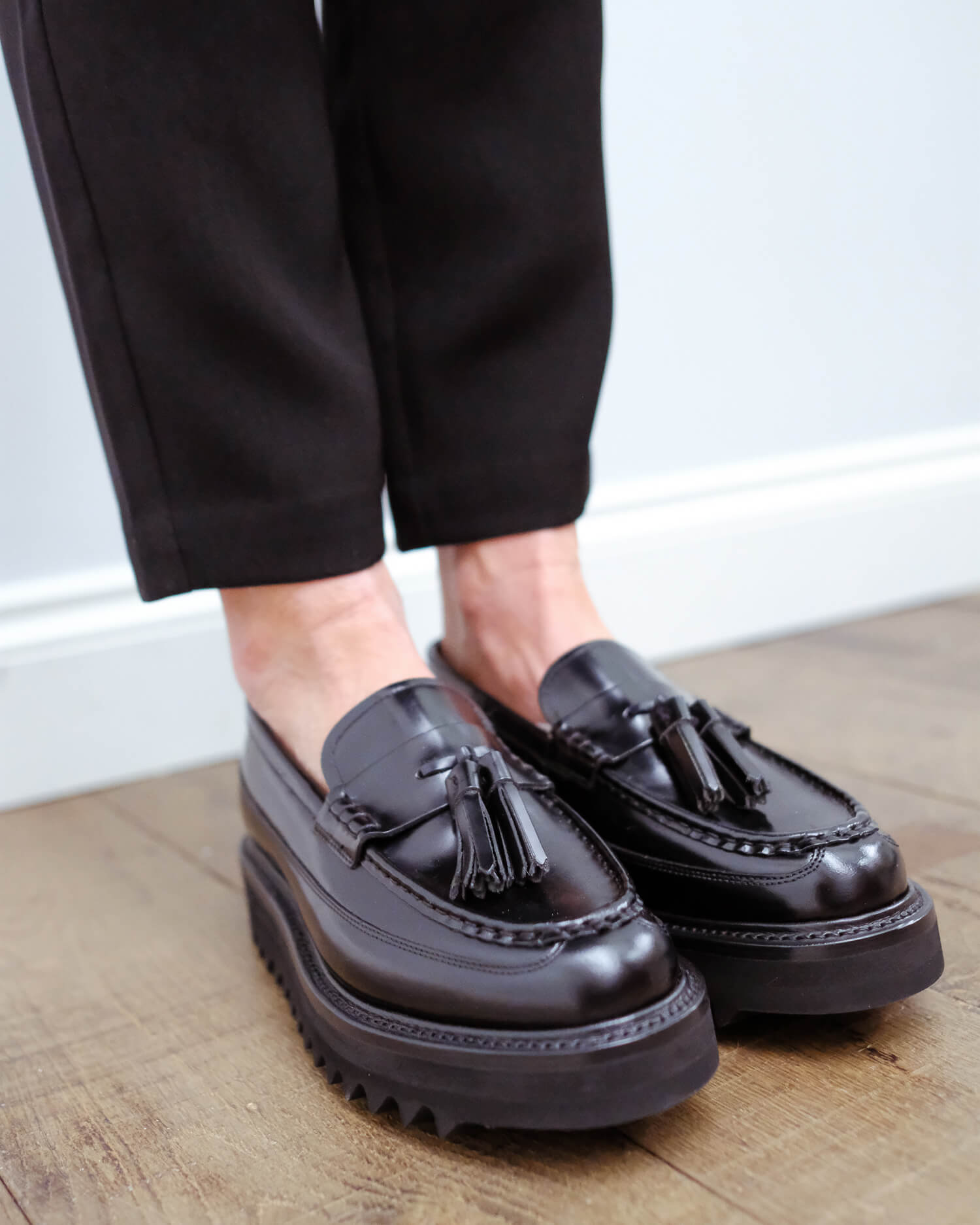 Grenson Brie shine loafer in black