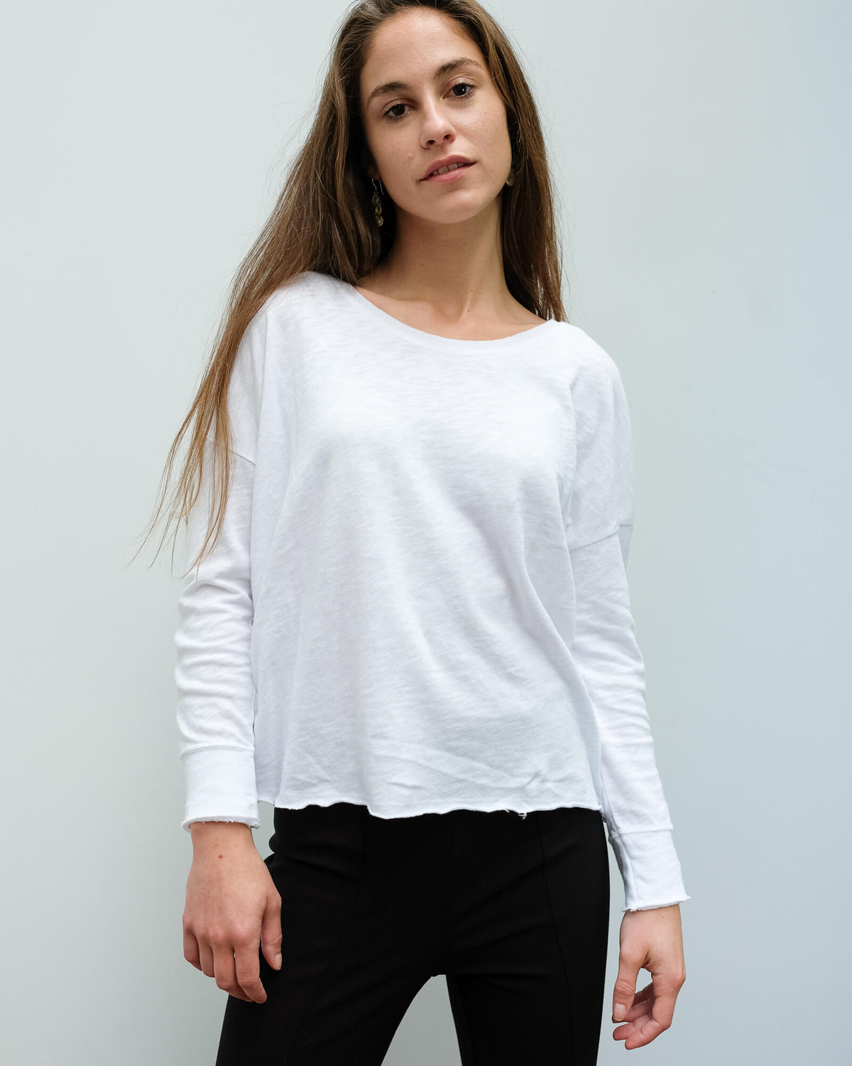 AV SON36 LS top in white
