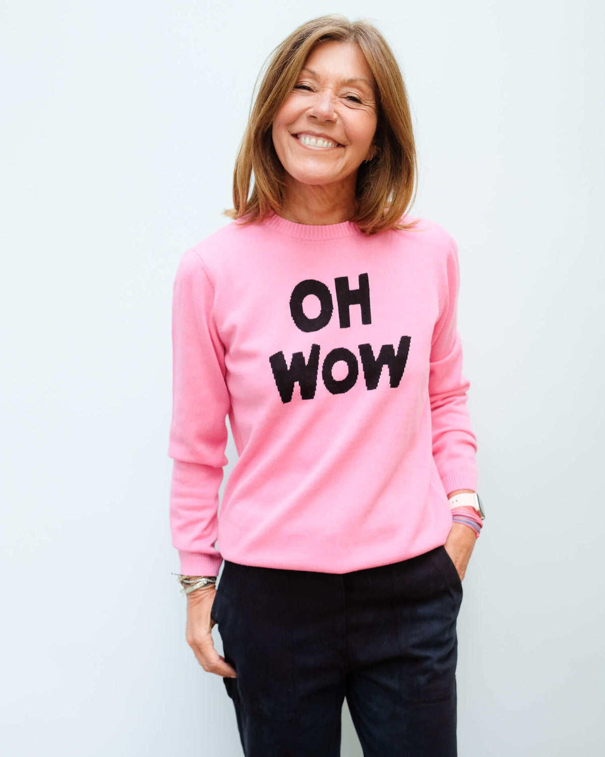 BF Oh Wow jumper in pink