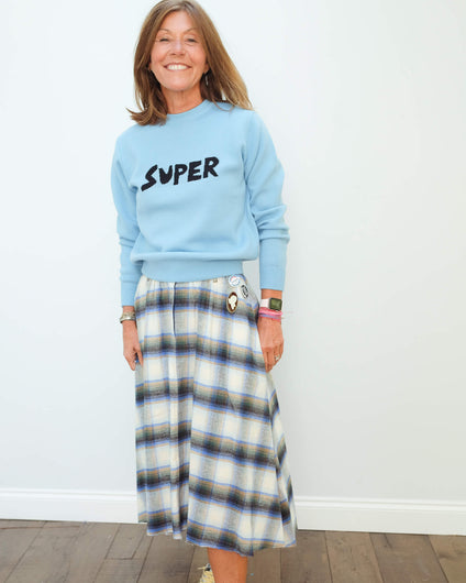 BF Super jumper in pale blue
