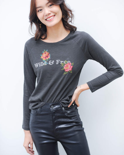 Y 29217 wild and free tee in anthracite