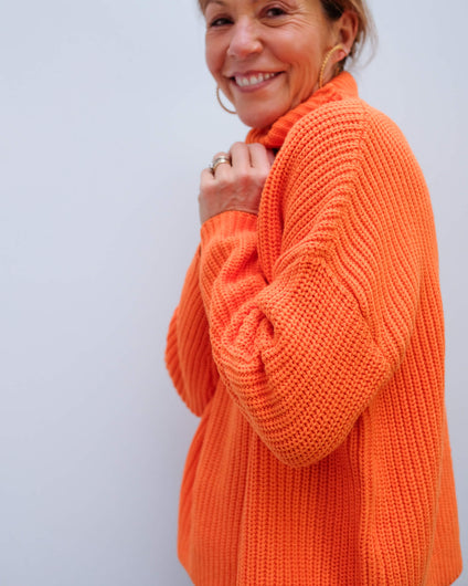 SLF Alberte knit in russet orange