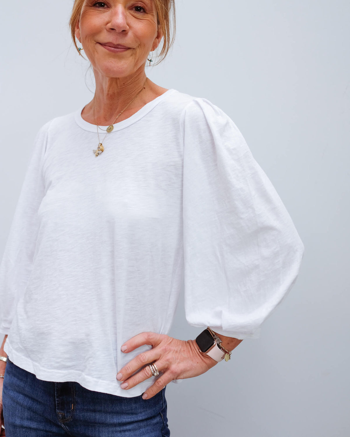 V Joanna top in white