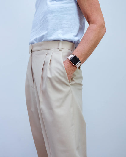 JOSEPH Fender trousers in sand