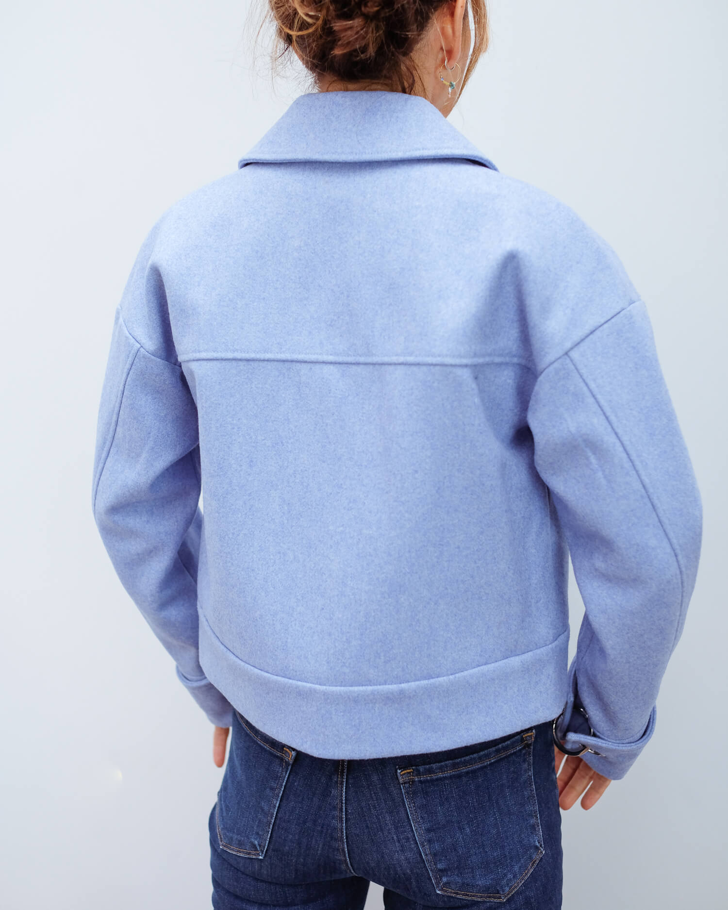 SLF Betty wool jacket in blue melange